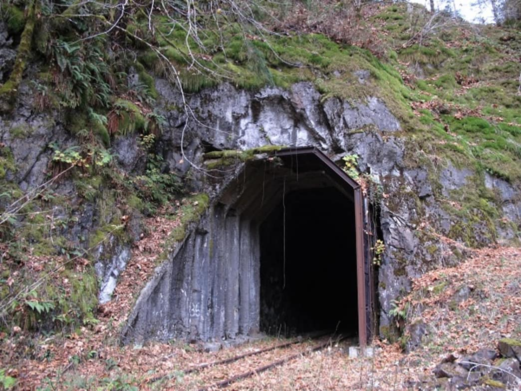 Hikers should bring flashlights to combat the tunnels along both sections of the hike.