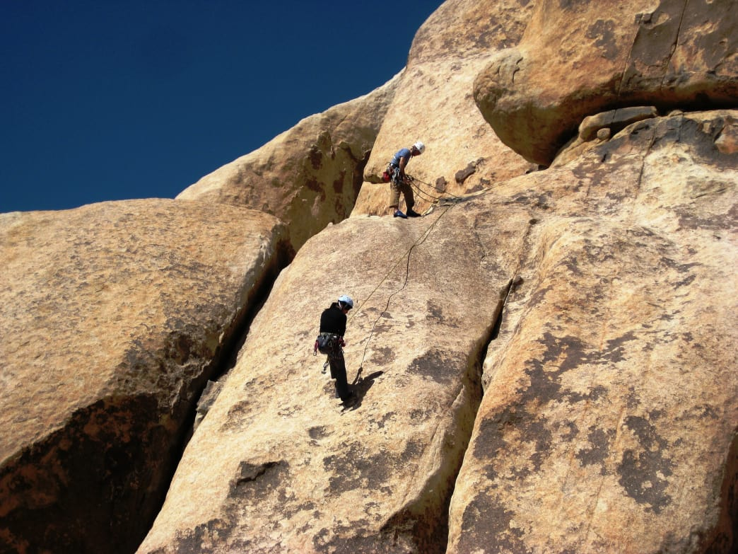 Climbing in Joshua Tree.