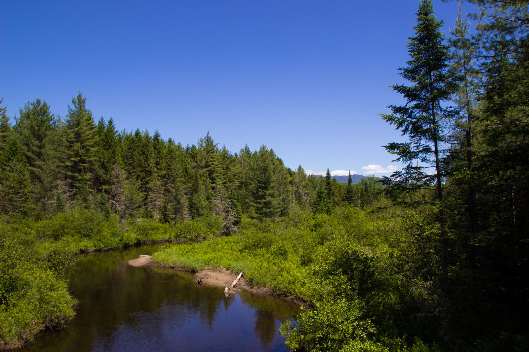 While water is plentiful, most of the NPT involved hopping from lake to lake or pond to pond. The West Branch of the Sacandaga River is one of the major flowing waterways the route sees.
