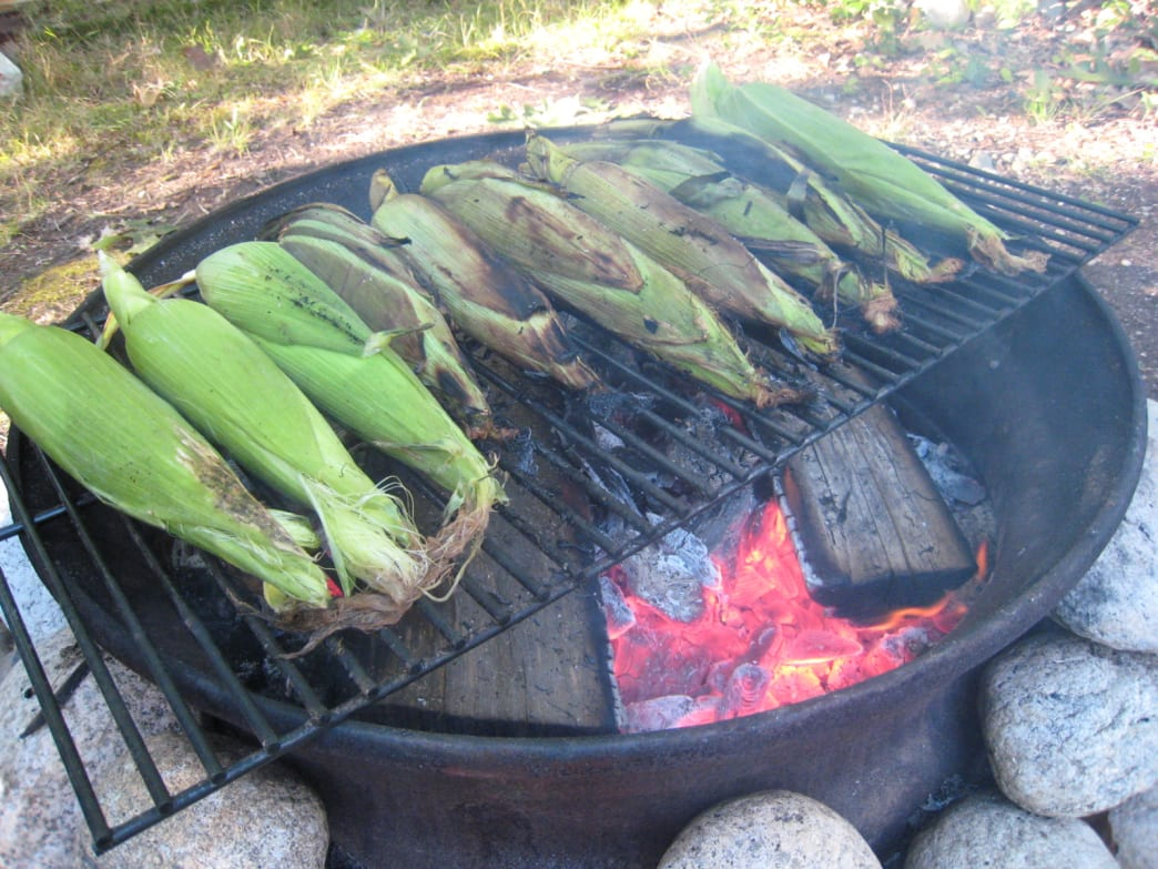 Roasted Corn - Camping Receipes