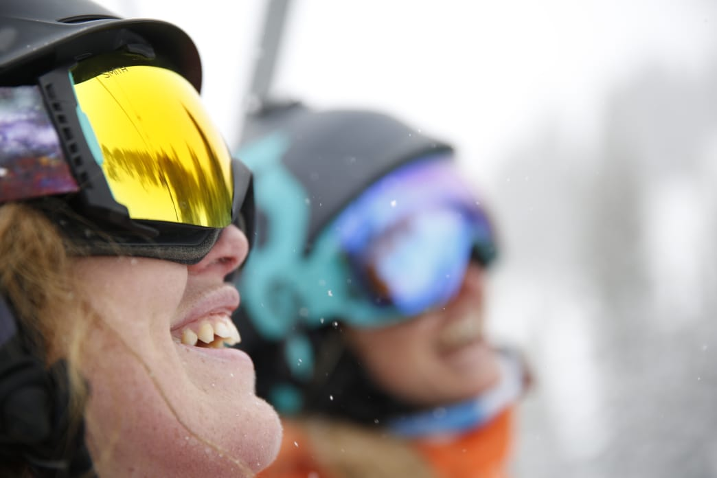A great ski run is sure to put a smile on your face.     Marc Piscotty