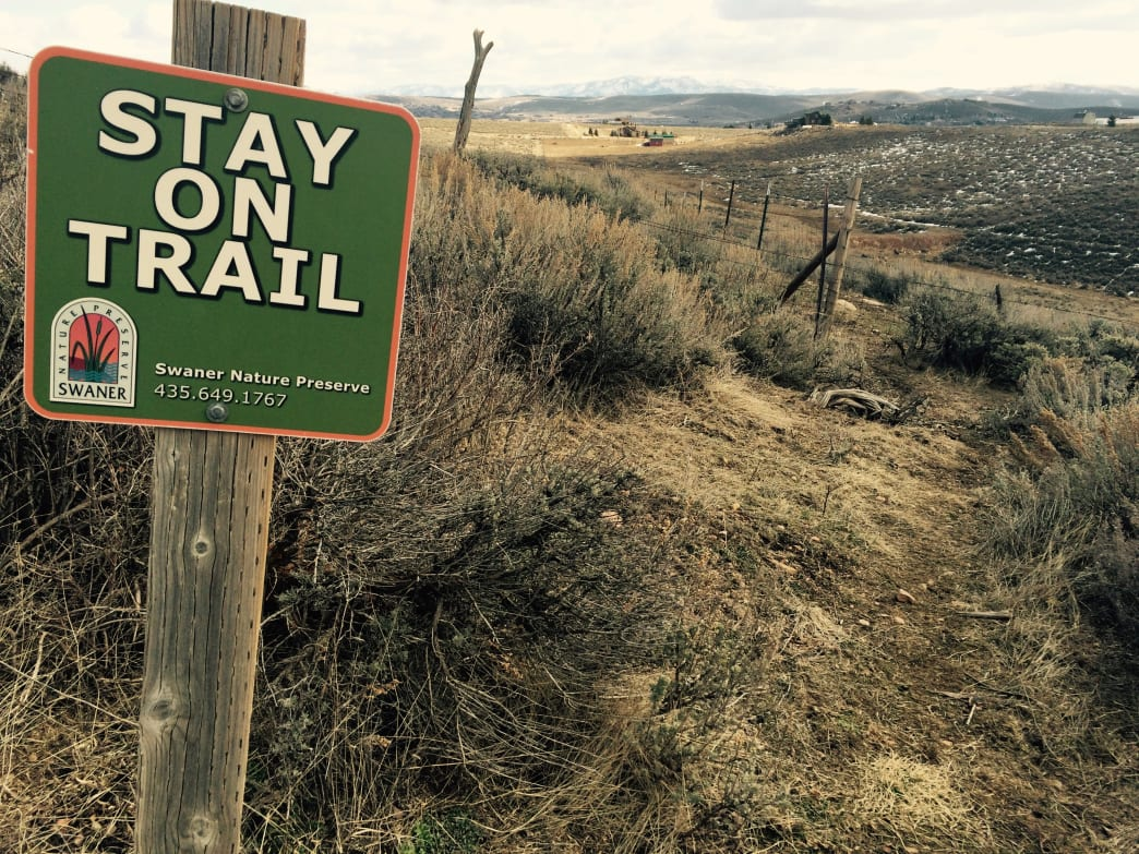 In Park City, you obey all signs.