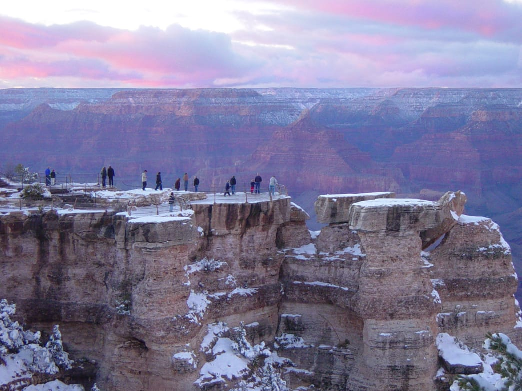 Sunset at Mather Point.