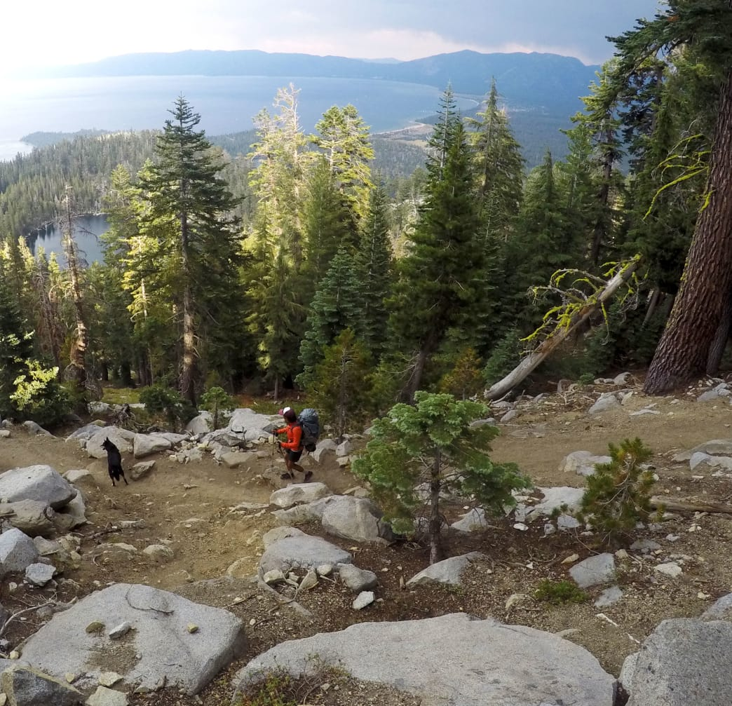 The author follows Shylie on the descent to Granite Lake. Jacob Meyberg