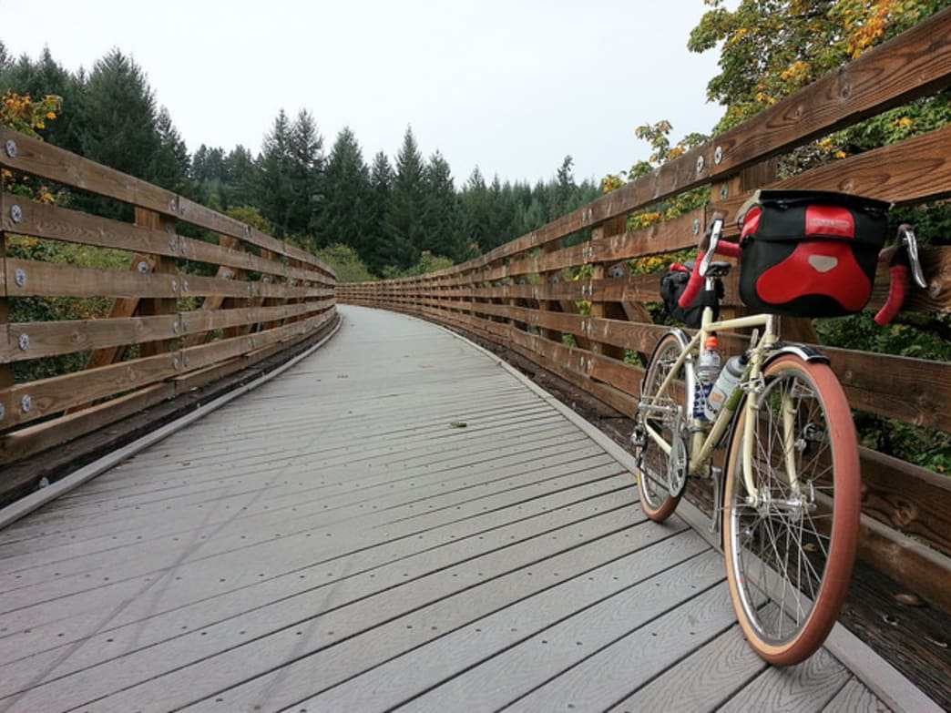 The Banks-Vernonia Trail gets cyclists out of Portland and into rural territory.
