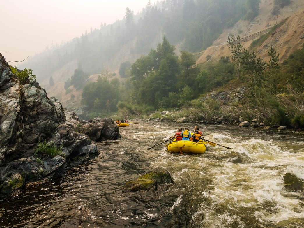 Centrally located on a long whitewater stretch of the Klamath River, Happy Camp is an excellent launch point for multiday packrafting trips.      Dylan Jones