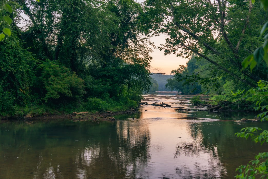 Visitors love calm moments like this in East Palisades, along the Chattahoochee River National Recreation Area