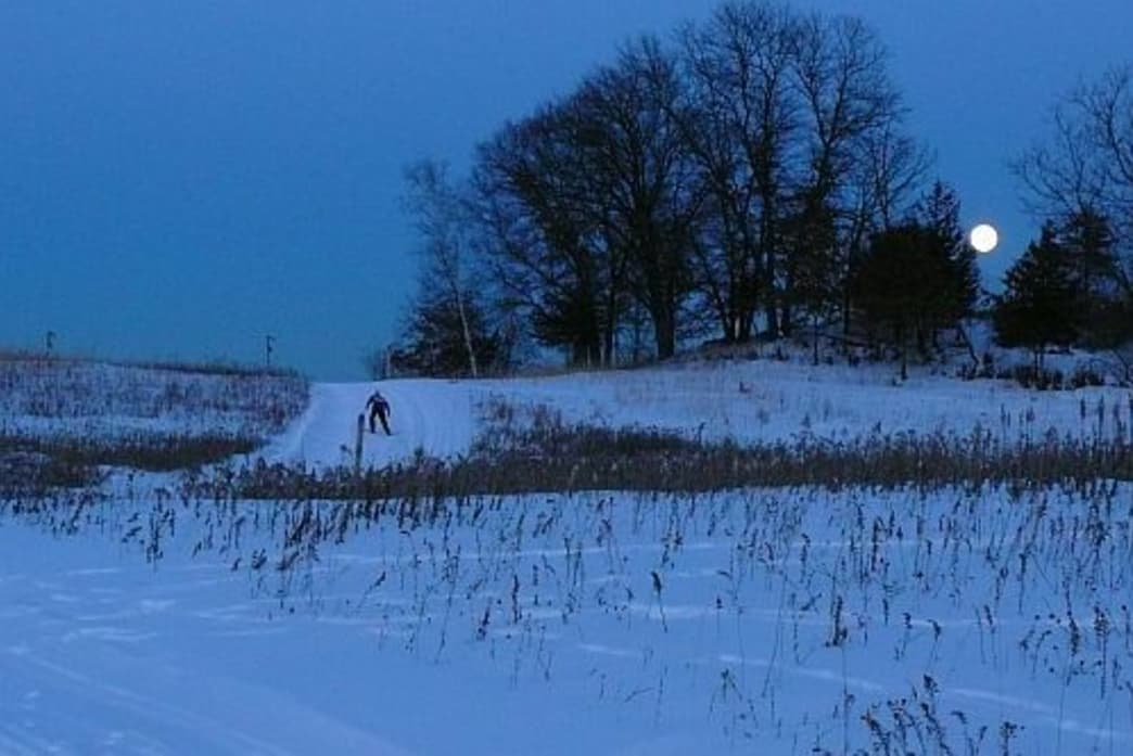 The William O'Brien State Park features ten miles of skate and classic cross-country ski trails.