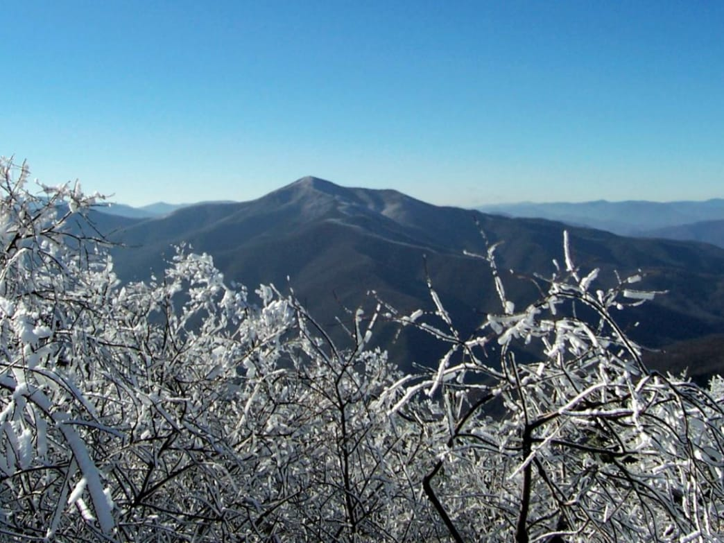 In the winter, the Blue Ridge Parkway is a prime thoroughfare for Nordic skiers.