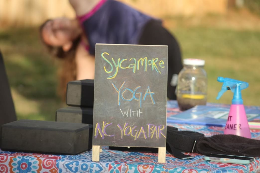 Mellow out with a pint and a pose at Sycamore Brewing's weekly yoga practice.