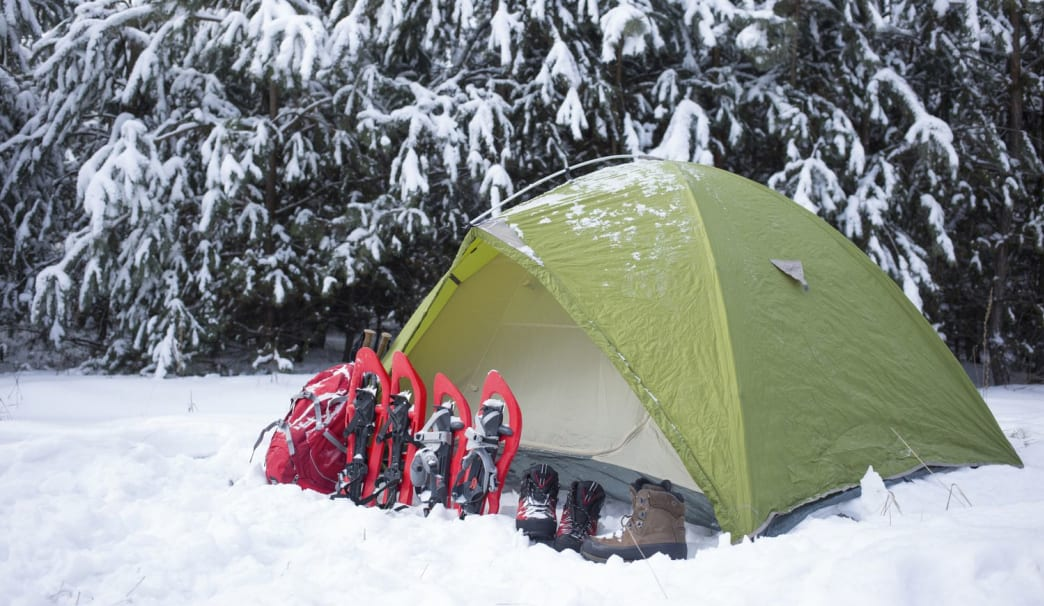A sturdy tent is important if you don't want to wake up buried in snow.