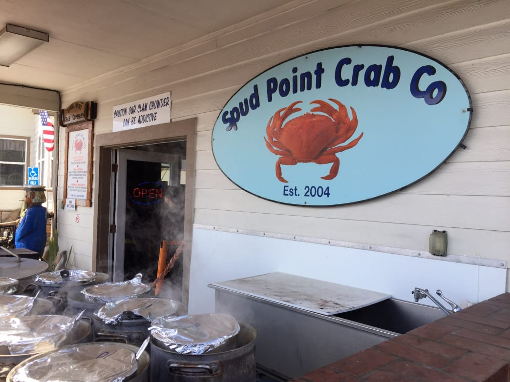 Be careful: The clam chowder at Spud Point Crab Company is indeed addictive.