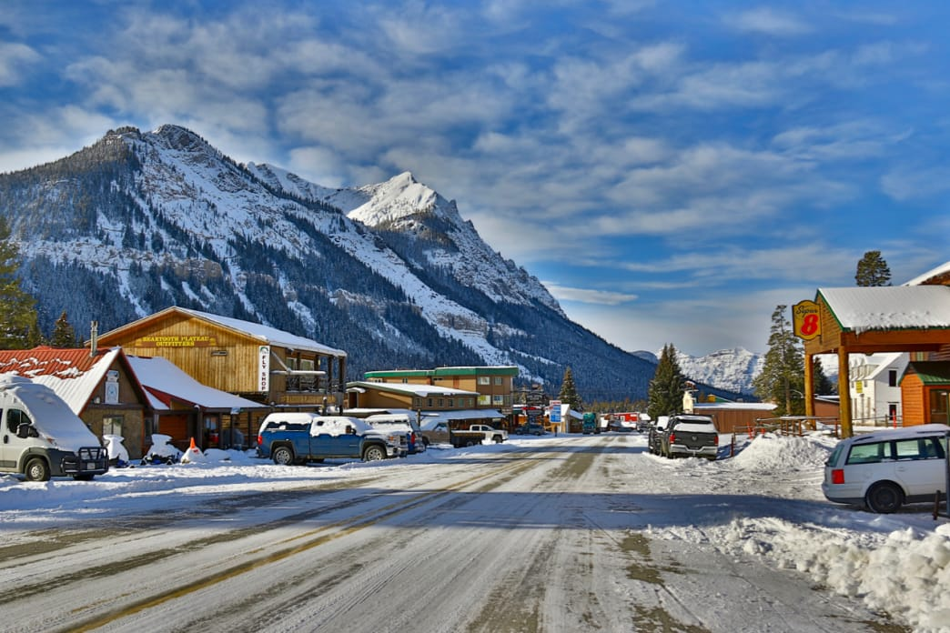 Cooke City, Montana in winter.