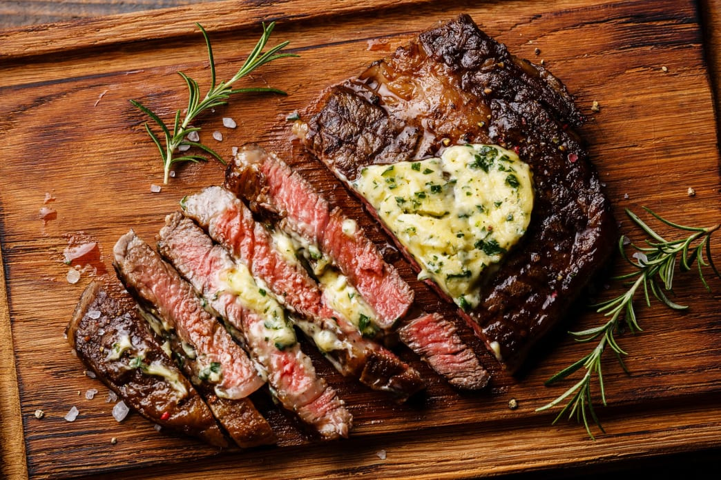 Herb butter is great with steak or sauteed vegetables.