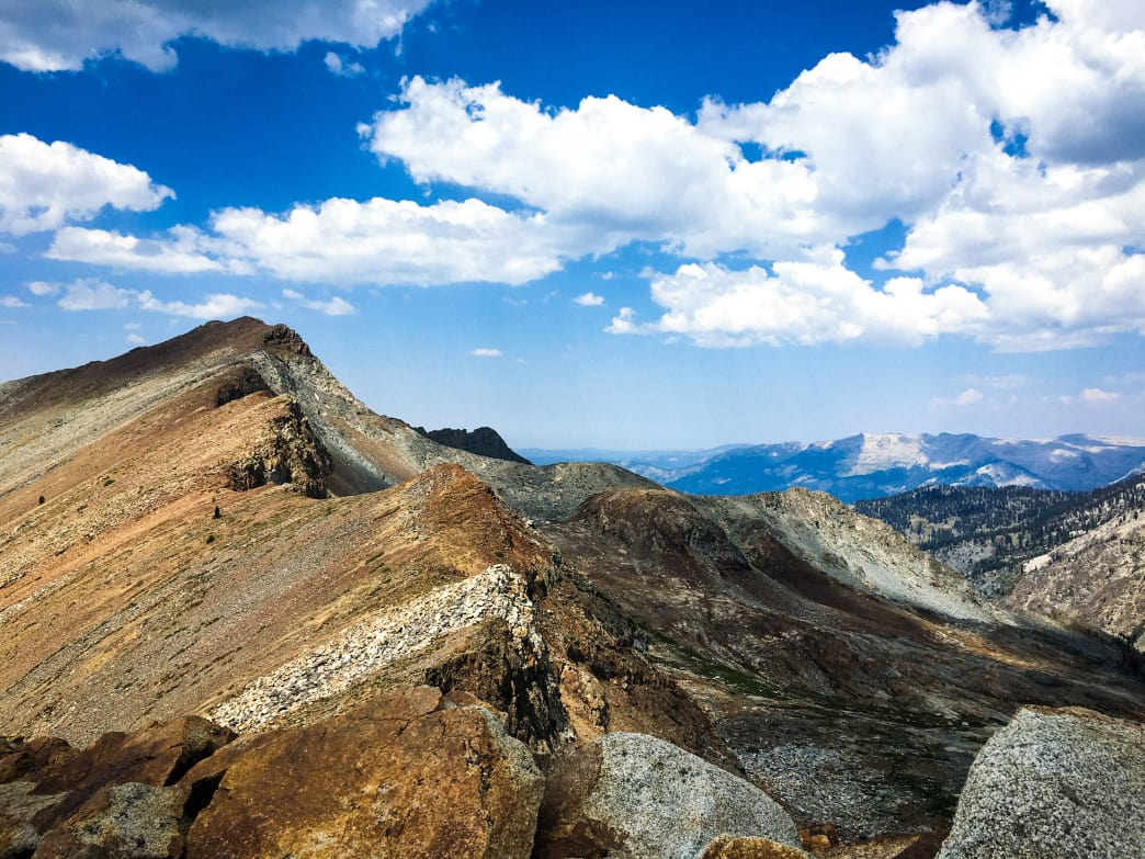 Soaring views from the top of Sequoia National Park's Sawtooth Pass.     Kara Kieffer