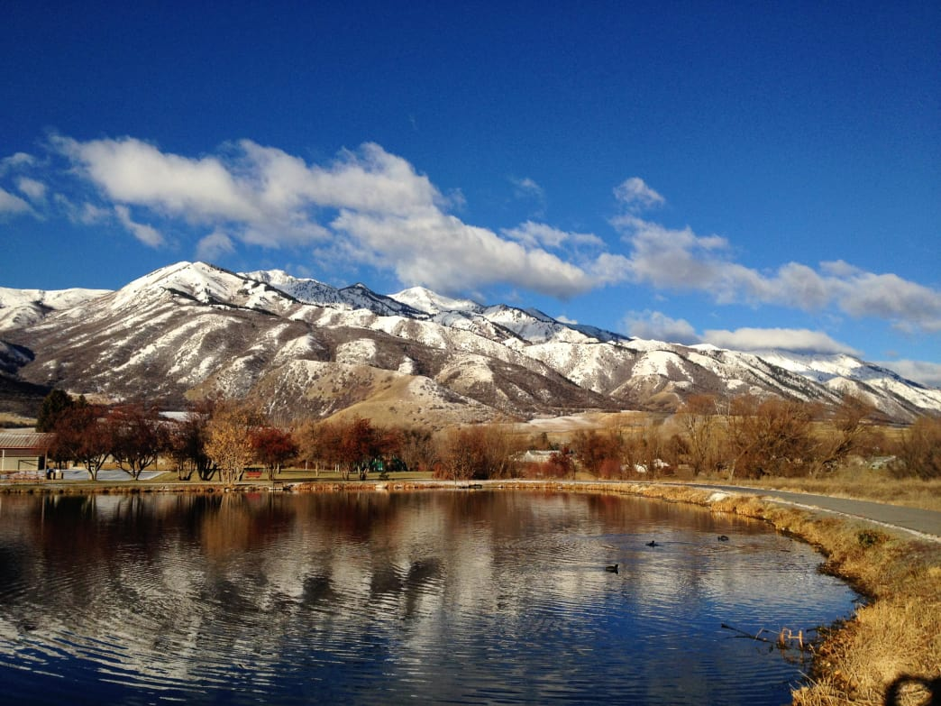 Utah's Wellsville Mountains are some of the steepest mountains in the country.