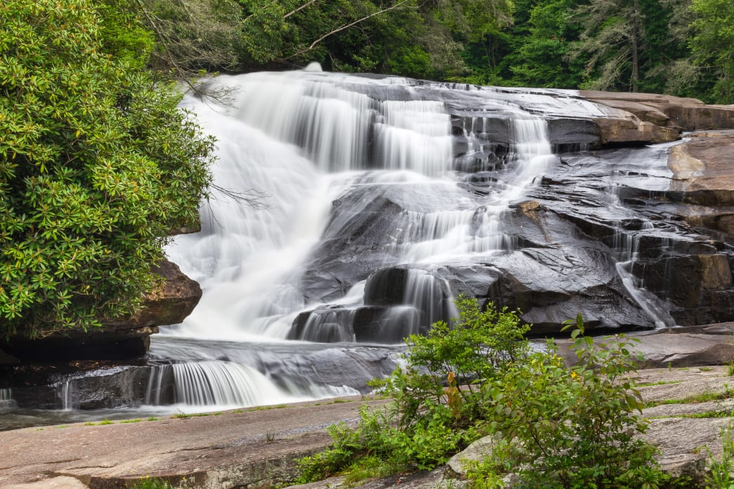 Hike DuPont State Forest to Triple Falls, Hooker Falls and High Falls.