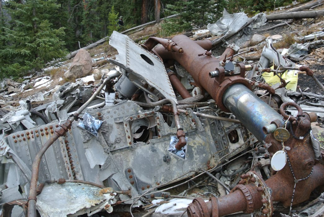 Hydraulic components in the debris. James Dziezynski