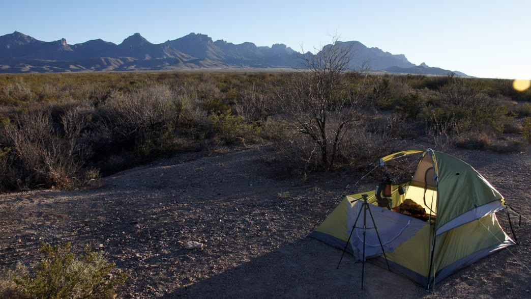 Tent camping at Big Bend