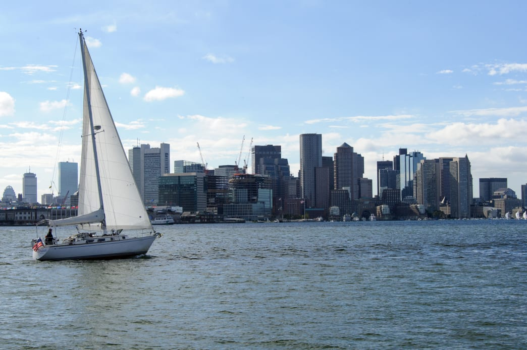 From the ferry to Georges or Spectacle Island, you'll get a picture-perfect view of the city skyline.