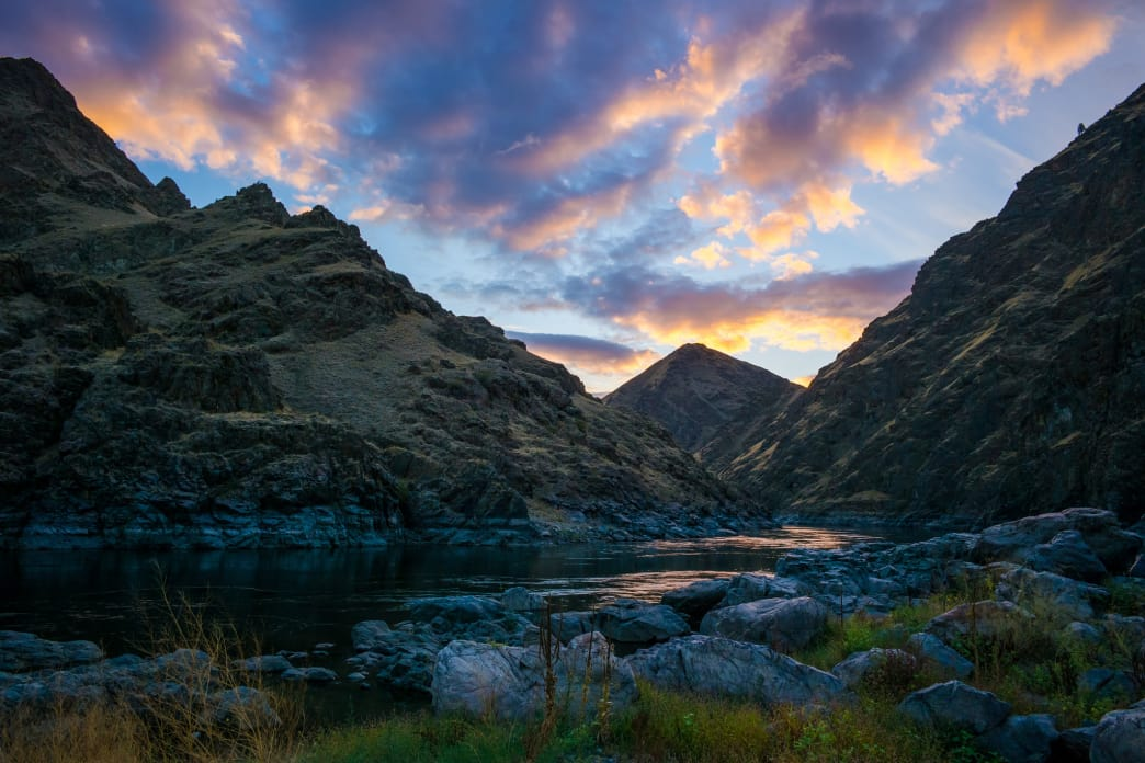 Sunset in Hells Canyon, the deepest canyon in the country.