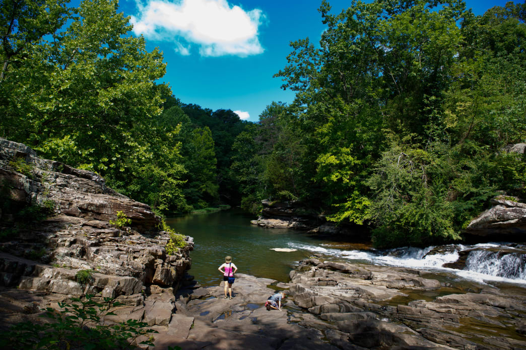 A swimming hole, like this one in Alabama's Little River Canyon, makes for a great escape.