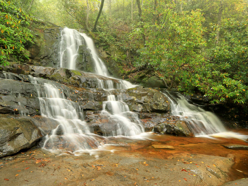 Perhaps one of the most popular waterfall hikes in Northeast Tennessee is Laurel Falls.