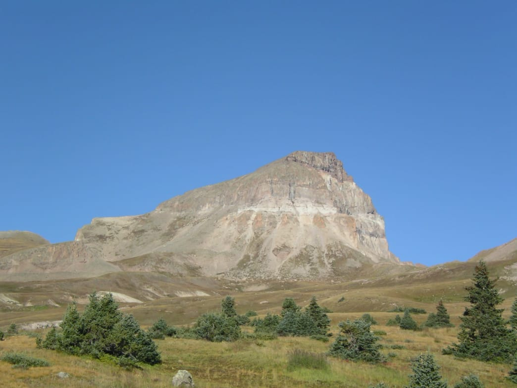 Uncompahgre Peak's distinct profile.