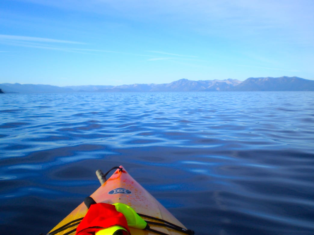 Kayaking to Emerald Bay is one of the best paddles in the region.