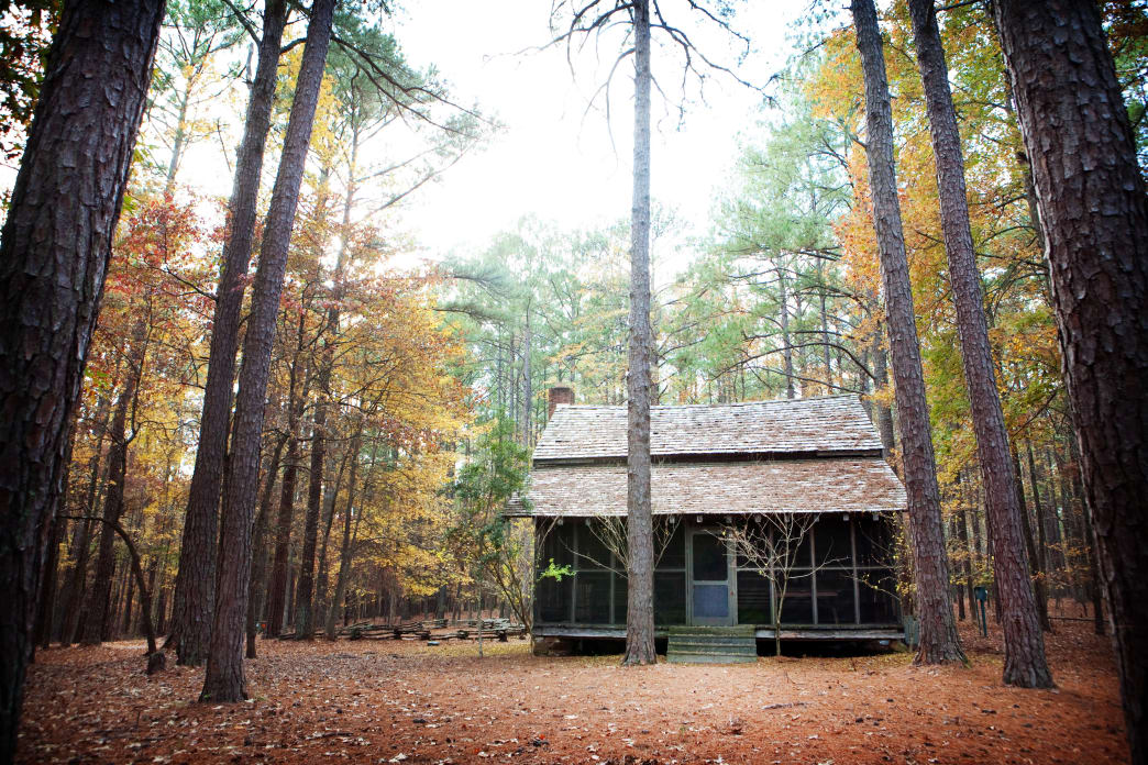 The Guillebeau cabin at Hickory Knob State Park.
