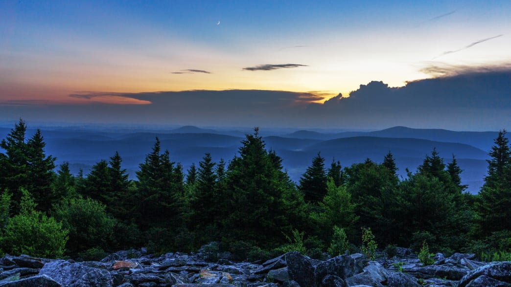 A top notch sunset view from Spruce Knob, WV's highest peak.