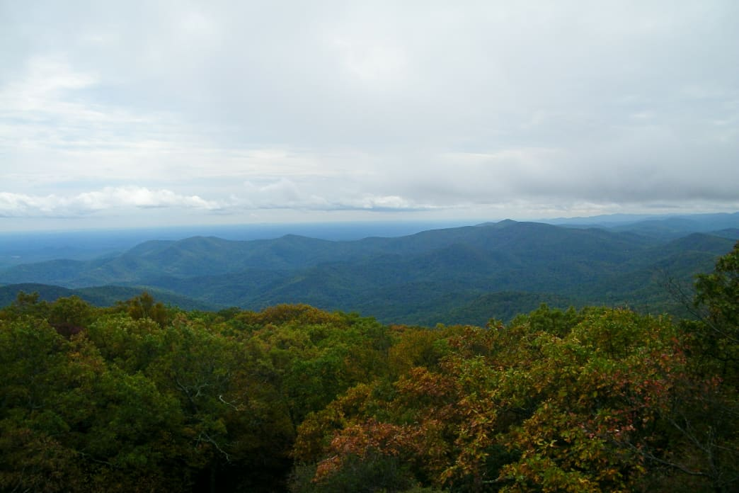 The climb to the top of Blood Mountain is strenuous but rewarding.