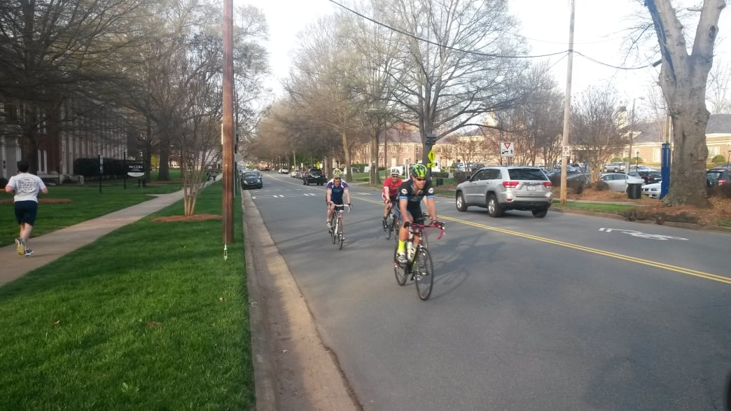 With scenic neighborhoods and plenty of water, the Booty Loop is one of the best road running routes in Charlotte.    Rob Glover
