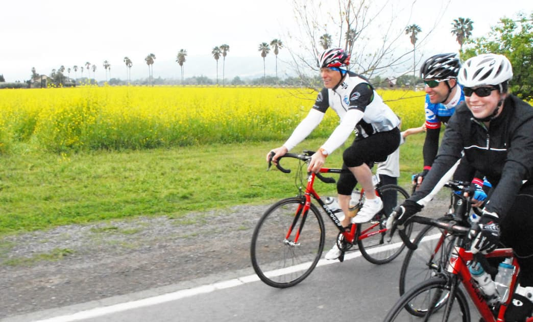 The Bottega Gran Fondo offers spectacular scenery through the Napa countryside.