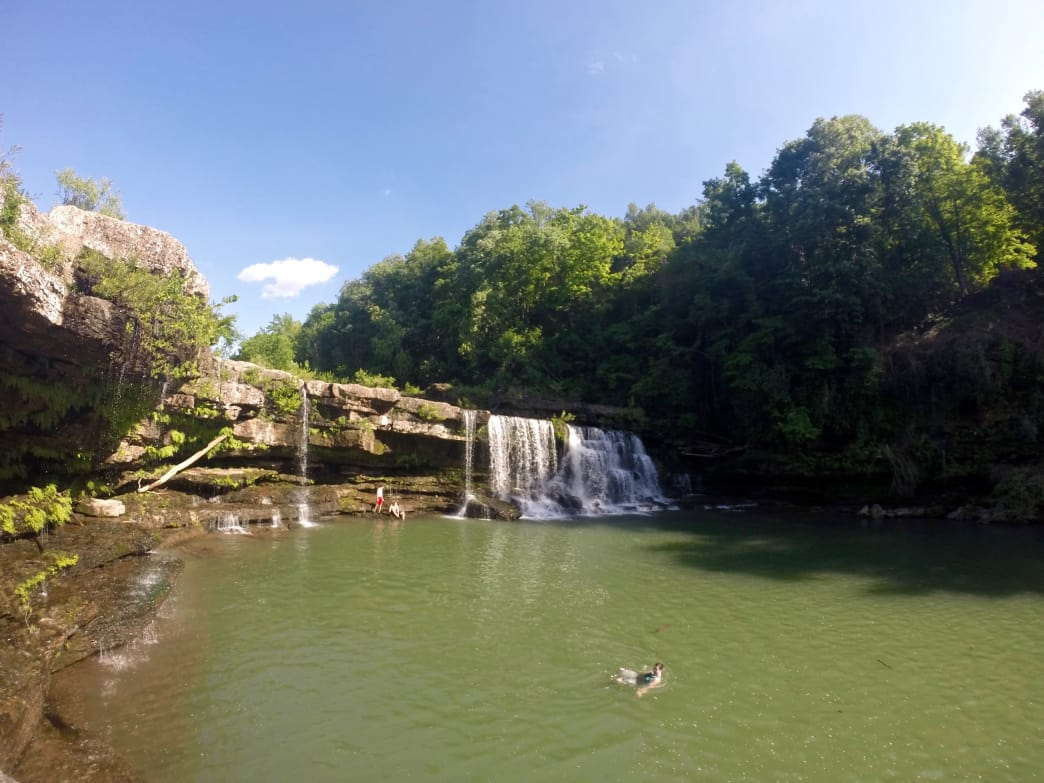 Swimming at Great Falls in Rock Island State Park