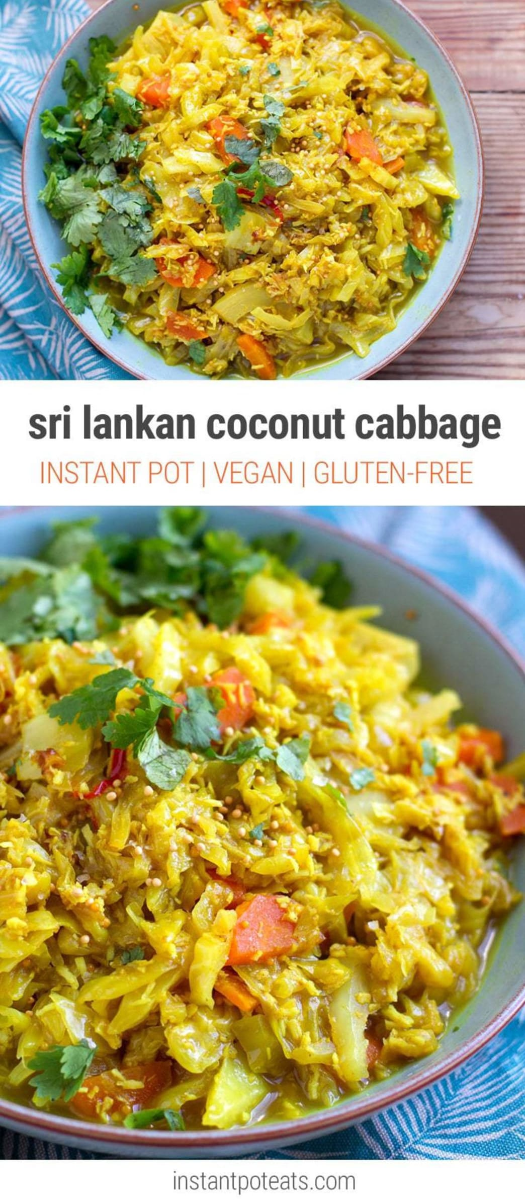 Instant Pot Coconut Cabbage