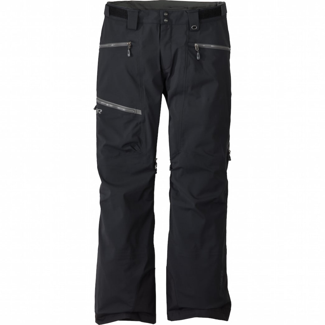 Men's White Room Pants, Black