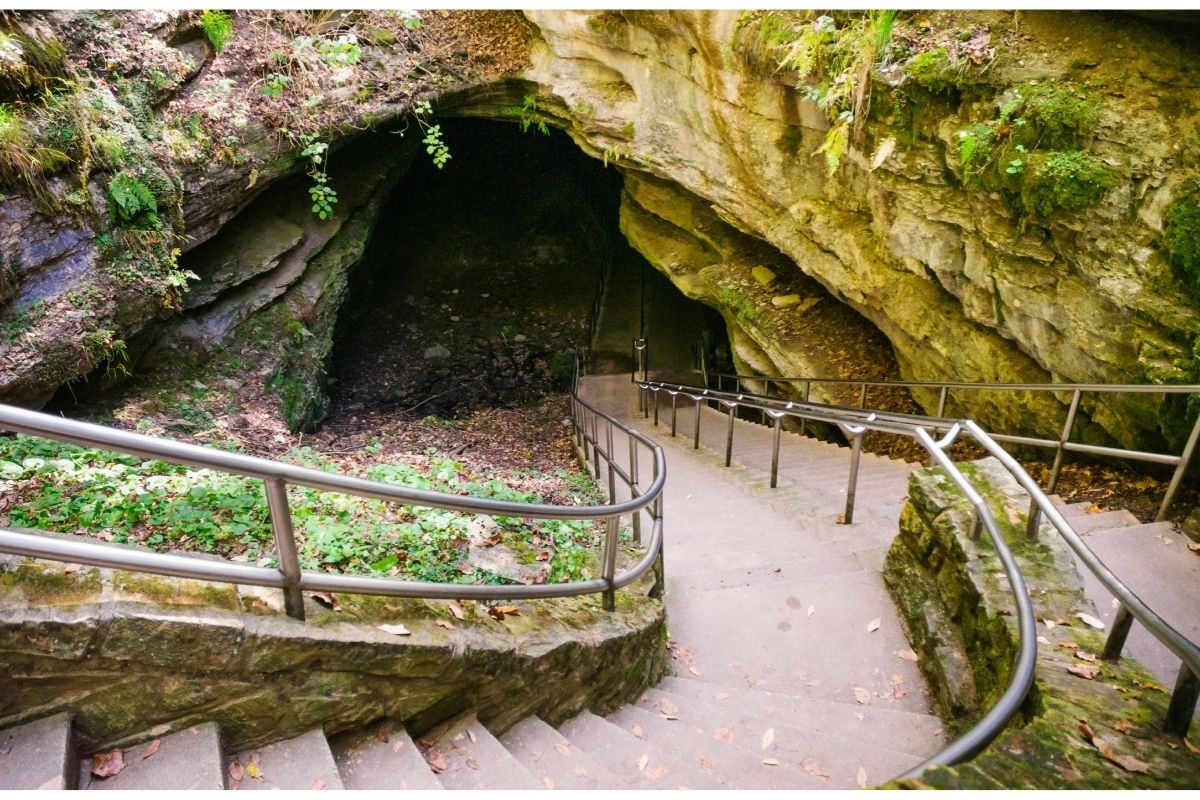 A stairway leading into the