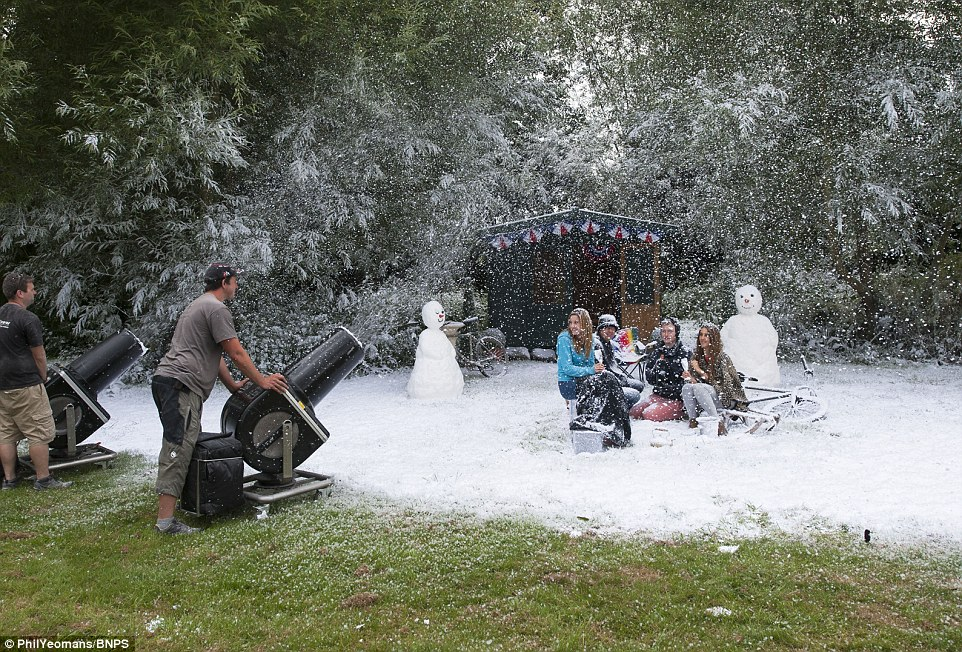 Fake Snow used in a shoot