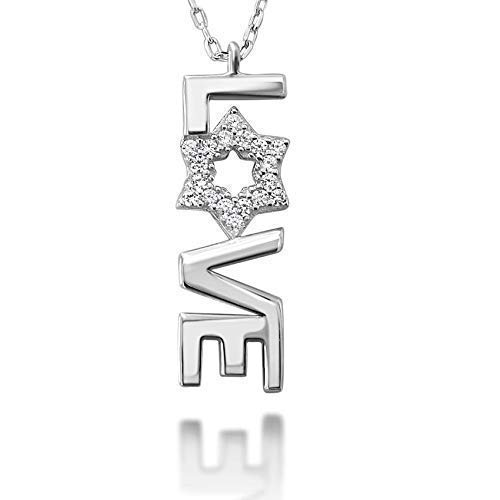 love jewish star necklace