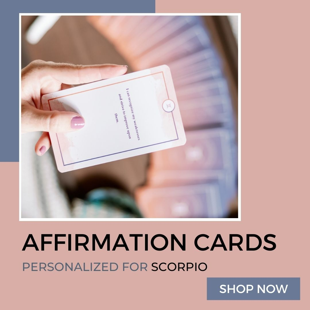 affirmation cards for scorpio