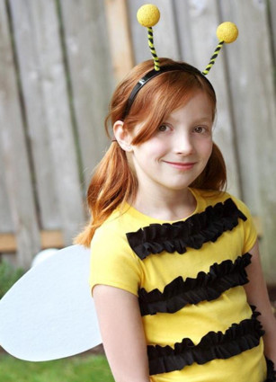 Little Girl in Bumble bee costume
