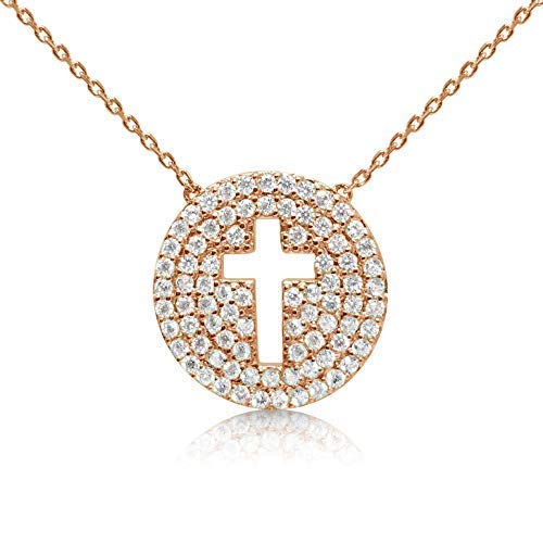 rose gold cross pendant