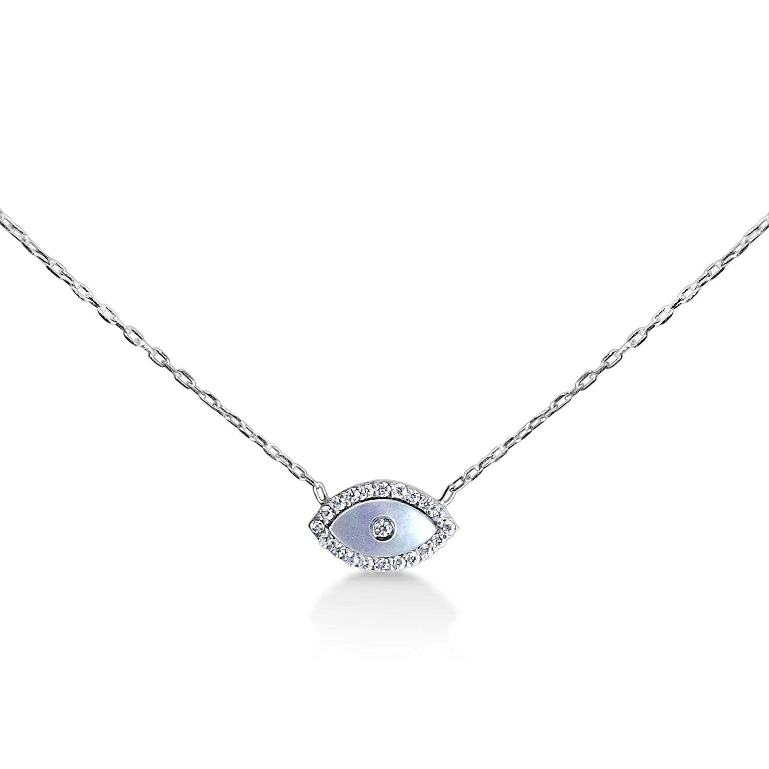 evil eye silver necklace
